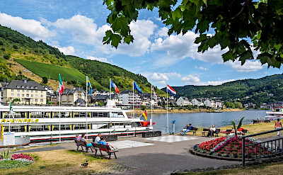 Cochem is a center for the wine trade on the Mosel River in Germany. Flickr:Frans Berkelaar