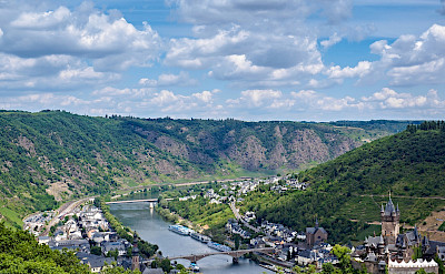 Great view of the Mosel River passing through Cochem, Germany. Flickr:Frans Berkelaar