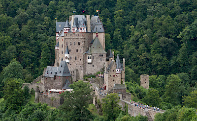 Eltz Castle above the Mosel River between Koblenz and Trier, Rhineland-Palatinate, Germany. CC:Steffen Schmitz