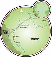 Koblenz a Merzig Mapa