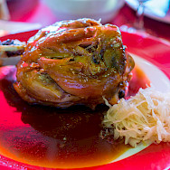 Schweinshaxe (pig's knuckle) in Germany. Flickr:Wei-te Wong