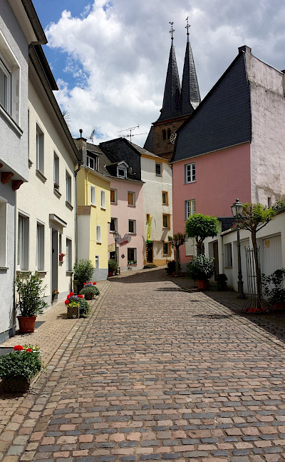 Cobbled streets in Saarburg, Germany along the Saar River. Flickr:Steve Watkins