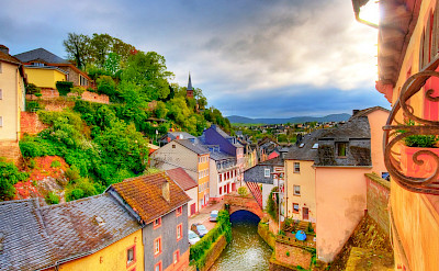 Saarburg, Germany along the Saar River. Flickr:Wolfgang Staudt