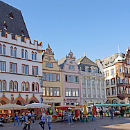 Hauptmarket in Trier, Germany is great for a bike rest. Flickr:Dennis Jarvis