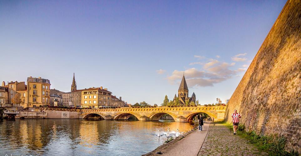 Along the Mosel River in Metz, Germany. Flickr:Jean Balczesak