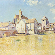 Moret-sur-Loing as painted by Alfred Sisley.