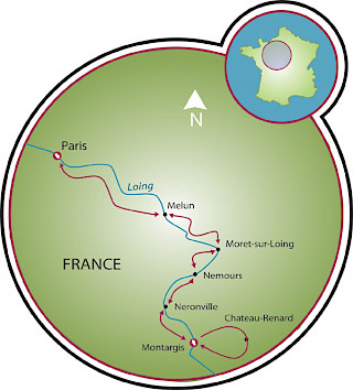 Montargis to Paris Map