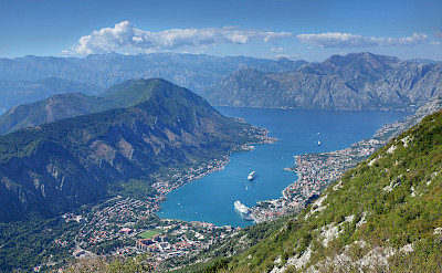 Bay of Kotor on the Adriatic Sea, Montenegro. Photo via Flickr:amira_a