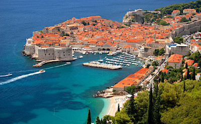 Along the Dalmatian Coast is Dubrovnik, Croatia.