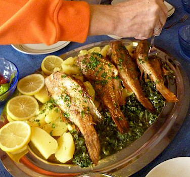 Fish is a favorite in Croatia! Photo by Carola Scholz