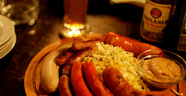 German sausages and beer! Photo via Flickr:Daniel Panev
