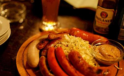 German sausages and beer! Flickr:Daniel Panev