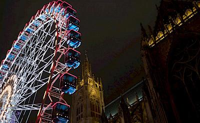 Ferris wheel at Saint-Étienne de Metz in Metz, France. Flickr:Denkrahm