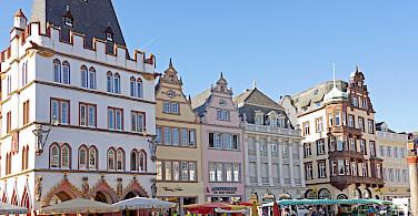 Hauptmarket in Trier, Germany along the Mosel River. Photo via Flickr:Dennis Jarvis