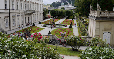 Gardens at Mirabell Palace, Salzburg, Austria. Photo via Flickr:Karlis Dambrans