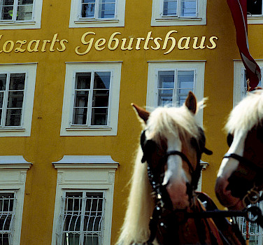Birthplace of Wolfgang Amadeus Mozart, Salzburg, Austria. P courtesy of Austrian National Tourist Office