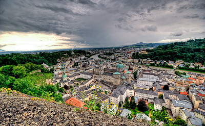 Salzburg along the River Salzach, Austria. Photo via Flickr:hjjanisch