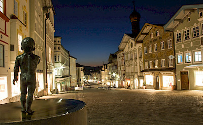 Evening in Bad Tölz in Bavaria, Germany. Flickr:Max Schrader