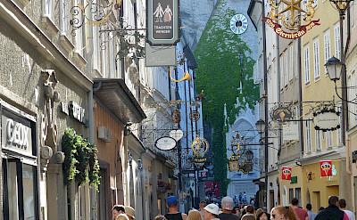 Getreidegasse in Altstadt of Salzburg, Austria. Flickr:flightlog