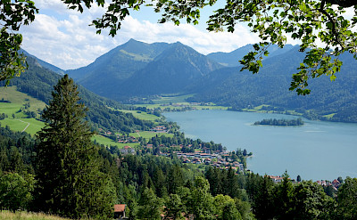 Lake Schliersee in the Bavarian Alps of Germany. Flickr:halbag