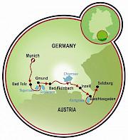 Munich to Salzburg Map