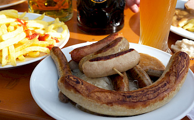 Sausages in Munich, Bavaria, Germany. Flickr:Junseita