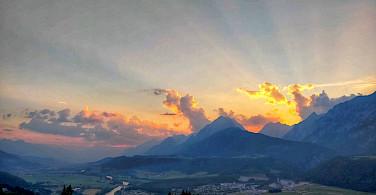 Alps aglow in Austria. Flickr:r chelseth
