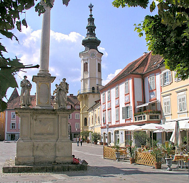 Bike Tour ends in Bad Radkersburg, Austria. Photo via Wikimedia Commons:Grubernst