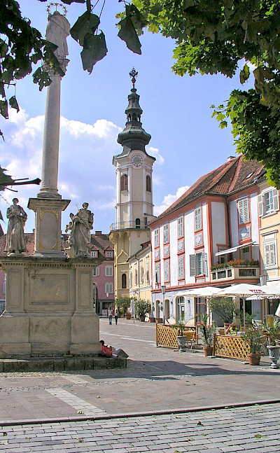 Main square in Bad Radkersburg, Austria. Wikimedia Commons:Grubernst