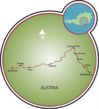 Mur Cycle Path Map