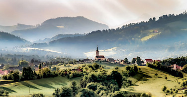 Styrian countryside near Graz, Styria, Austria. Photo via Flickr:Bernd Thaller