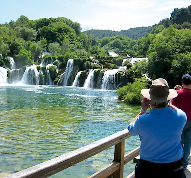Waterfalls at Krka National Park, Dalmatia.