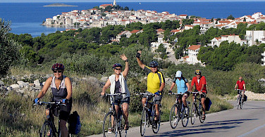 Biking from Trogir.