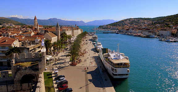 Trogir, where the boat is moored in Croatia. Flickr:Kate