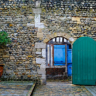 Old walls in Honfleur, Normandy, France. Flickr:Fred Bigio