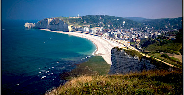 The famous Etretat cliffs in Normandy! Photo via Flickr:Moyan Brenn