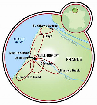 Northern Normandy Map