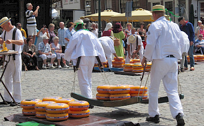 The famous Cheese Market in Alkmaar, the Netherlands.