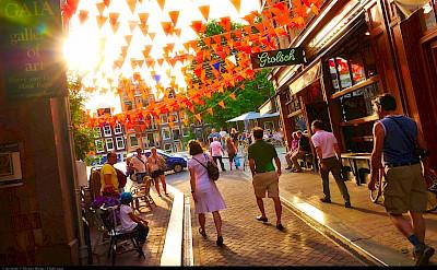 Summer evening in Amsterdam, North Holland, the Netherlands. Flickr:Moyan Brenn