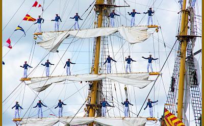 Sailors on board a ship in Amsterdam, North Holland, the Netherlands. Flickr:bert kaufmann