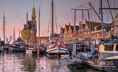 Harbor in Hoorn, North Holland, the Netherlands. Flickr:b k