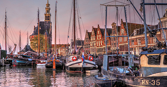 Harbor in Hoorn, North Holland, the Netherlands. Flickr:b k