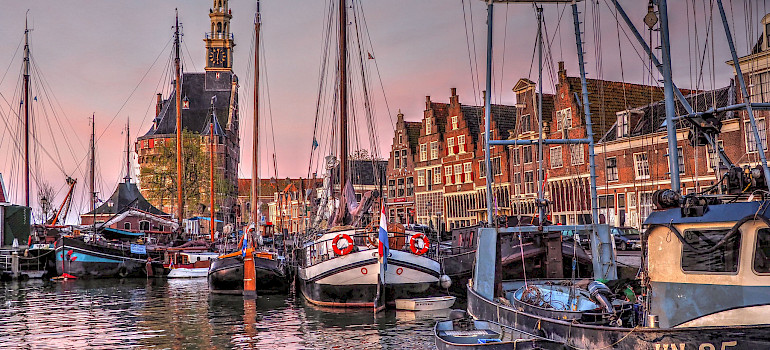 Harbor in Hoorn, North Holland, the Netherlands. Photo via Flickr:b k