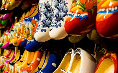 Klompen for sale at the Zaanse Schans in Zaandam, North Holland, the Netherlands. Flickr:Zicario van Aalderen