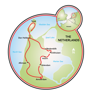 North Holland Tour Map