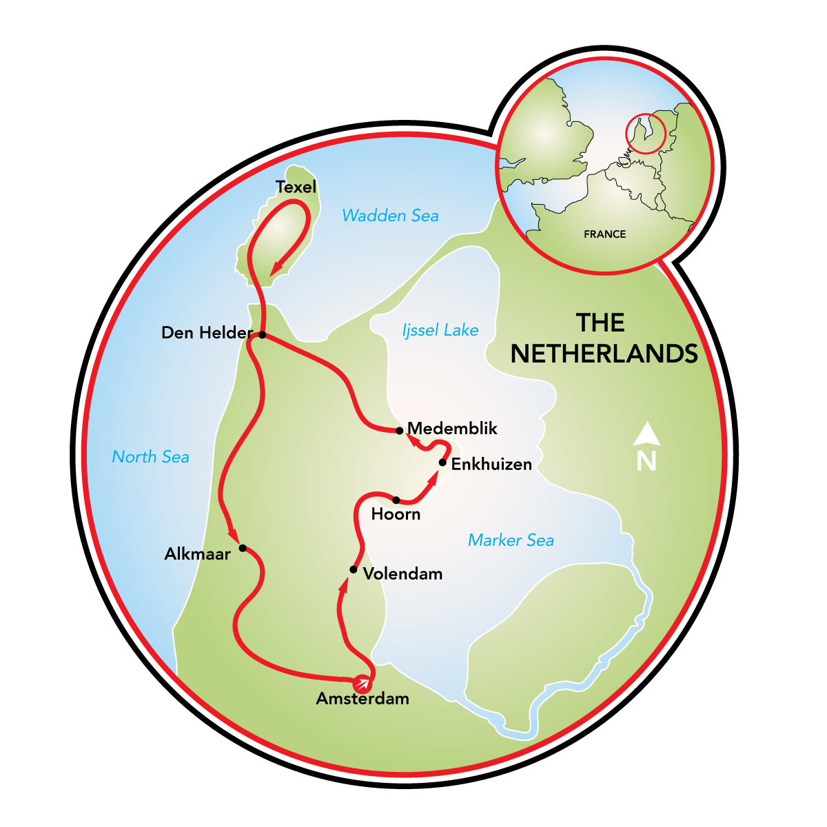 north holland bike and barge tour netherlands tripsite