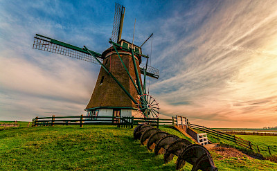 Windmill on the Frisian Island of Texel on the Wadden Sea in the Netherlands. Flickr:Johan Wieland