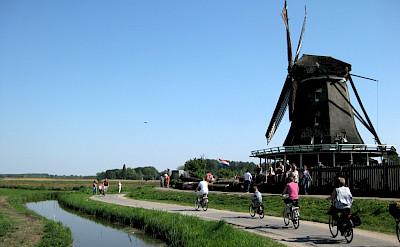 Biking the Zaanse Schans in Zaandam, North Holland, the Netherlands. Flickr:Iorek7z