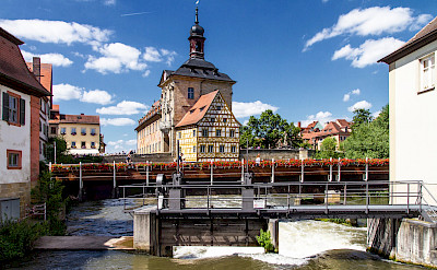 Rathaus in Bamberg, Germany along the river. Flickr:Reyperezoso