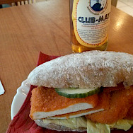 Schnitzel sandwich in Germany. Flickr:Wilhelm Lappe